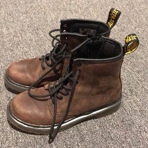 Boys brown doc Marten boots